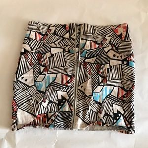 Multi colored/ Print Mini Skirt